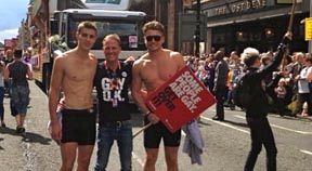Warwick Rowers march at Manchester Pride
