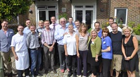 Biggins visits The Sussex Beacon