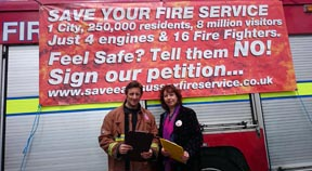 Labour anger at Fire Authority spending plans to implement cuts to fire service