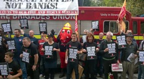 Labour parliamentary candidate joins fire service protest