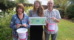 The Arun Gay Society donates £400 to charity for elderly people