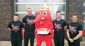 Surprise Welephant cake for Hove firefighters