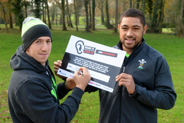 Welsh national rugby team takes a stand against homophobic abuse