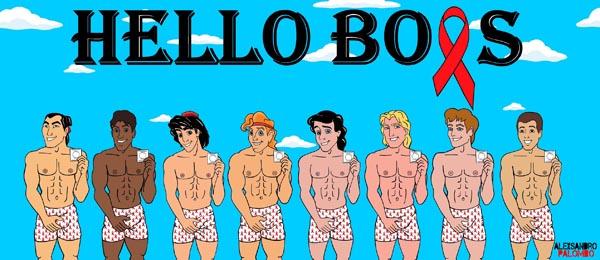 Disney Princes go naked against AIDS