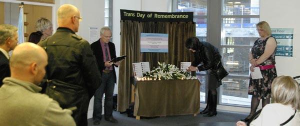 Transgender Day of Remembrance in Croydon