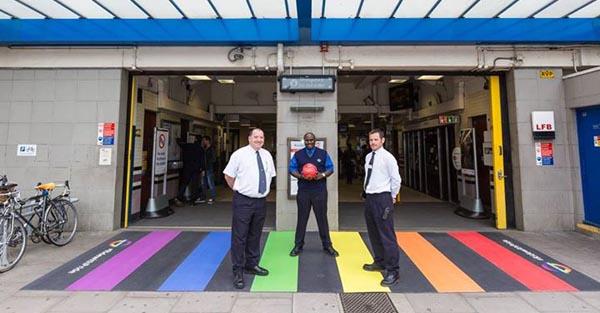 'Rainbow Crossing' in Trafalgar Square to mark civil partnership conversions