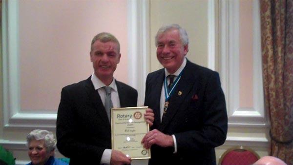 Lunch Positive volunteer receives Citizen Award