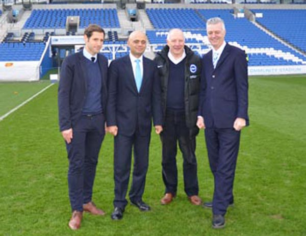 Secretary of State for Culture, Media and Sport visits The Amex