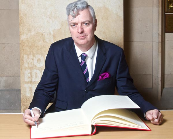 Simon Kirby MP signs Holocaust Educational Trust Book of Commitment