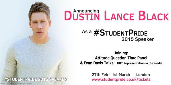 Dustin Lance Black to speak at Student Pride 2015