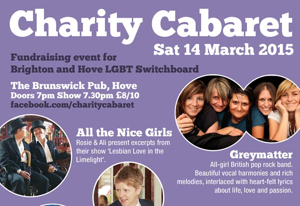 Charity cabaret night