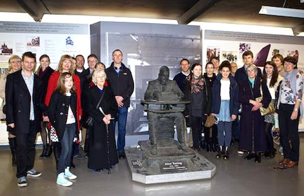 Turing's family visits Bletchley Park