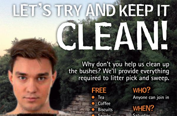 The Bushes Spring Clean initiative – change of published date!