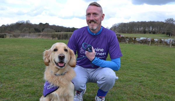 Danny to pound the streets for Canine Partners