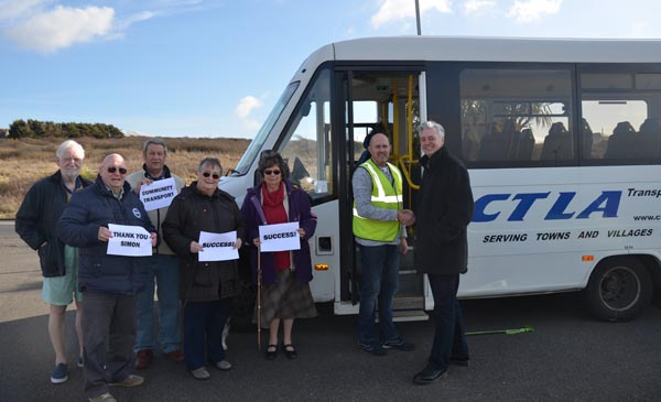 MP's campaign saves community transport services