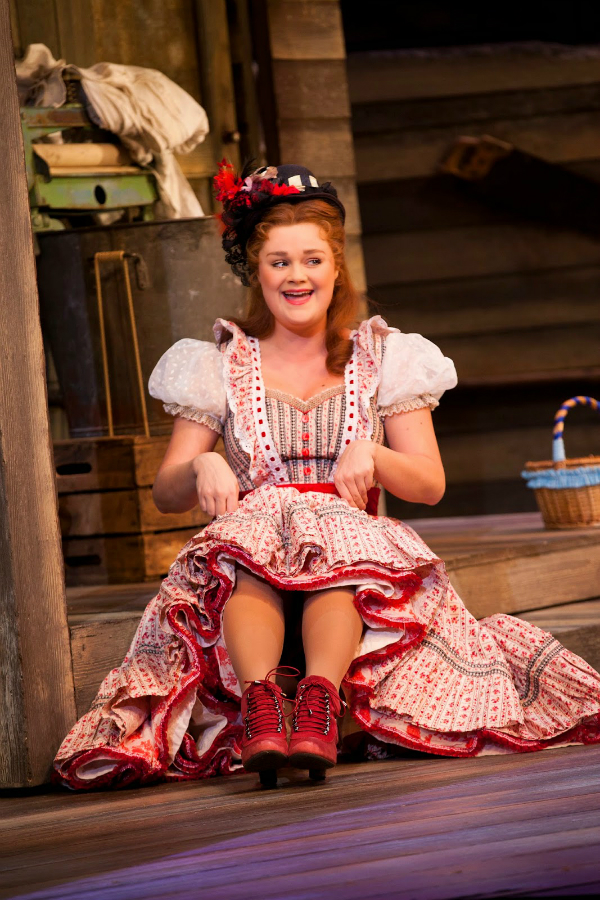 Gscene Gay Magazine What S On In Gay Lgbt Brighton Lucy May Barker As Ado Annie In The National Tour Of Oklahoma Credit Pamela Raith