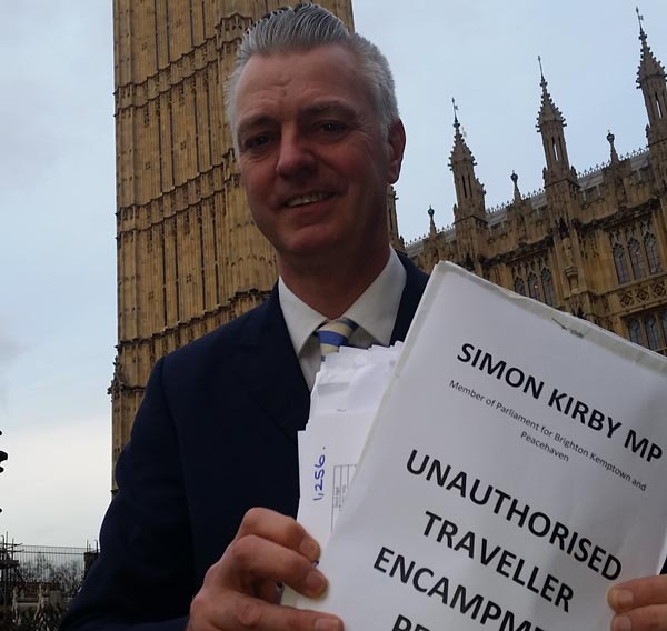 Kirby calls for quick action on Rottingdean unauthorised traveller encampment
