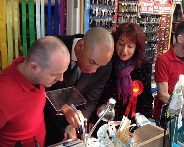 Shadow Business Secretary visits Brighton