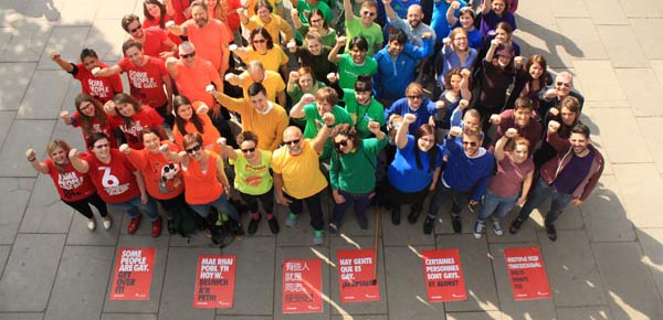 Stonewall forms 'Human Rainbow' to mark IDAHOBIT