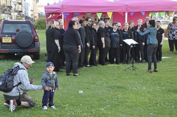 Local poet captivates audience at Brighton and Hove IDAHOBiT
