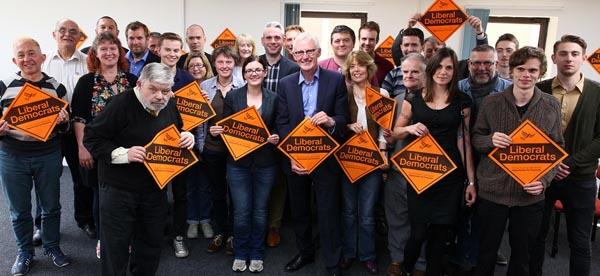 Lib Dem leadership contender visits local party in Brighton
