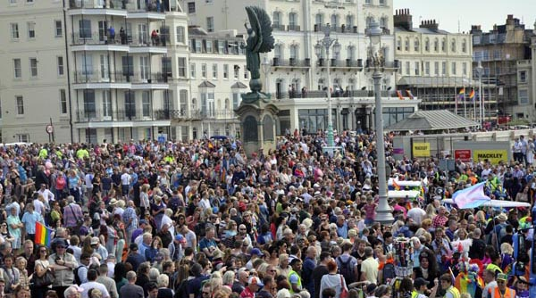 BRIGHTON PRIDE PICTURE DIARY: The crowds: Record numbers flock to watch Brighton Pride Community Parade
