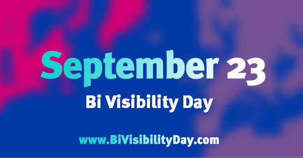 Today is Bisexual Visibility Day!