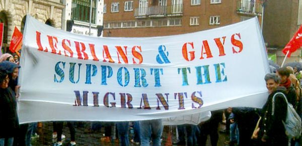 LGBT groups rally to support refugees