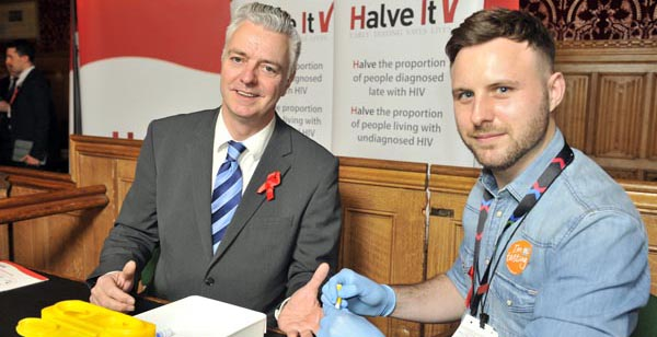 Kemptown MP takes HIV test at Westminster event