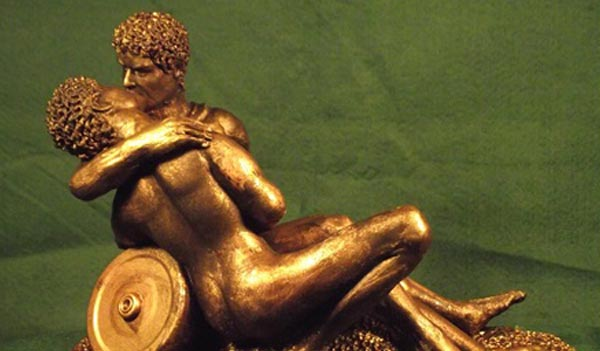 Gay Art Sculpture exhibition during LGBT History Project in Cornwall