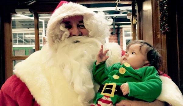 Gscene Santa visits Rainbow Families