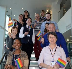 Rainbow lanyard scheme promotes 'environment of openness'