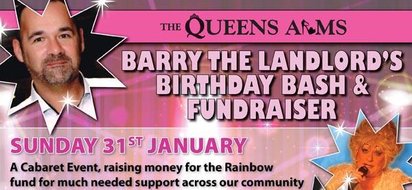Capt Baz birthday bash to benefit the Rainbow Fund