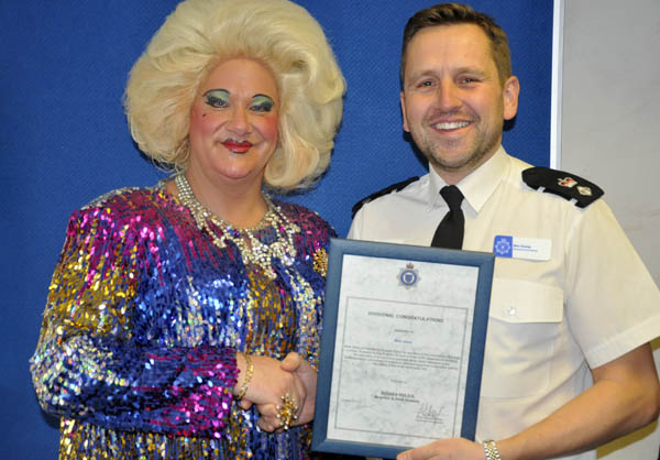 Drag Queen receives special award from Sussex Police