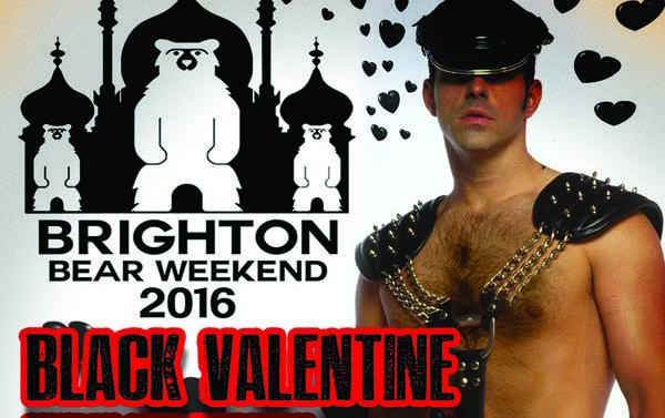Black Valentine Party for bears today at Subline