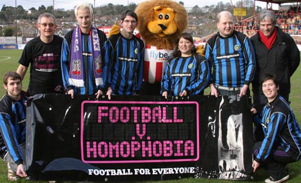 Exeter City FC say 'no to homophobia'