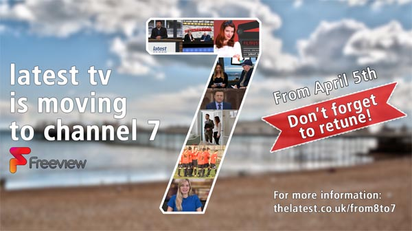 Brighton's Latest TV to move to freeview channel 7