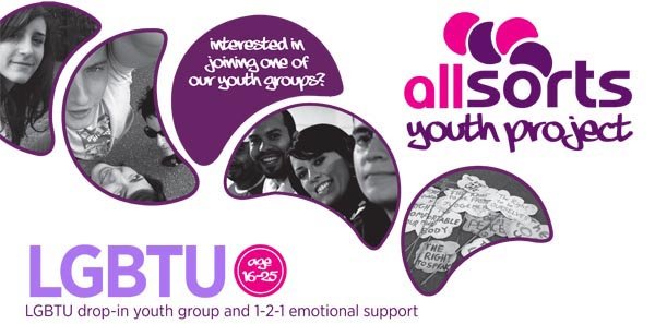 New poster promotes Allsorts' services for LGBTU young people in Brighton