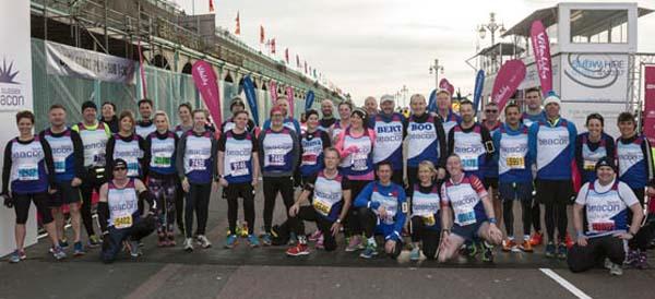 Olympic champion Sally Gunnell starts the Vitality Brighton Half Marathon