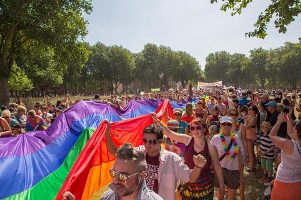 Bristol Pride Festival on the move