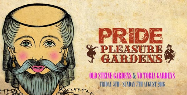 New Pleasure Gardens for Pride Festival Weekend