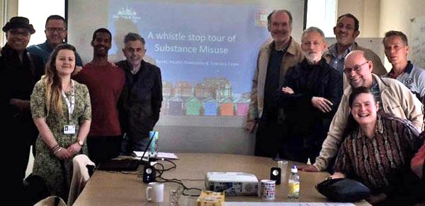 Lunch Positive volunteers trained in substance misuse awareness