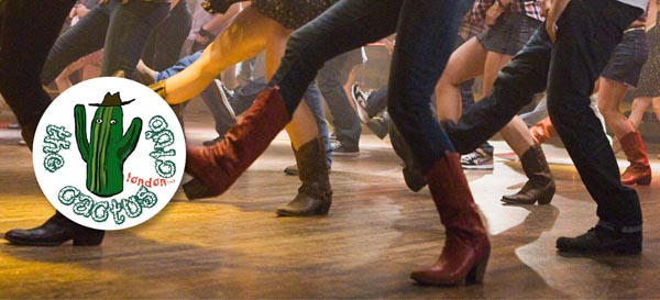 Line dancing at Brighton Pride Pleasure Gardens