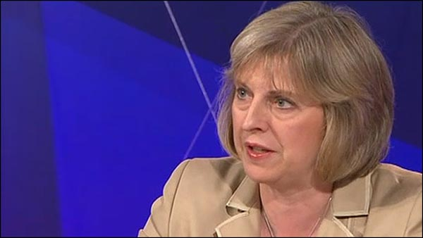 Home Secretary throws her hat in the leadership ring