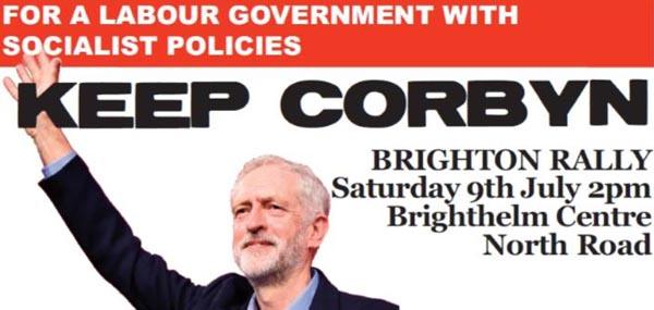 BrightonRally to support Corbyn!