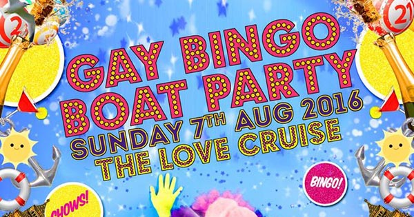 The Love Cruise and Gay Bingo Boat Party with Jonny Woo