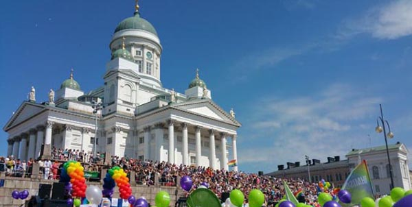 Pride march draws huge crowds to Helsinki city centre