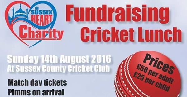 Sussex Heart Charity Lunch this Sunday