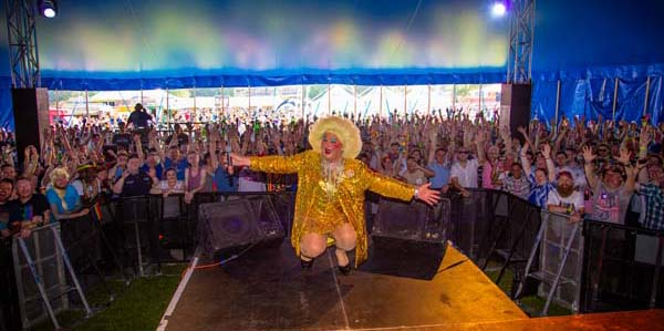 PICTURE DIARY: Legends Cabaret Tent@Brighton Pride from a trans perspective