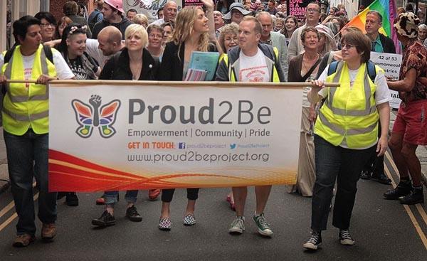Rainbow flag flies over Totnes Civic Hall
